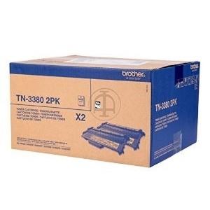 Brother Cartridge TN-3380 Twin Pack (TN3380TWIN)