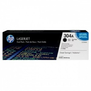 HP No.304A Dual Pack Black Cartridge (CC530AD)